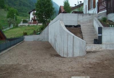 Muro di sostegno abitazione