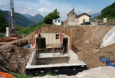 Costruzione centrale idroelettrica torrente Chieppena